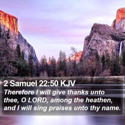 2 Samuel 22:50 KJV Bible Verse Image