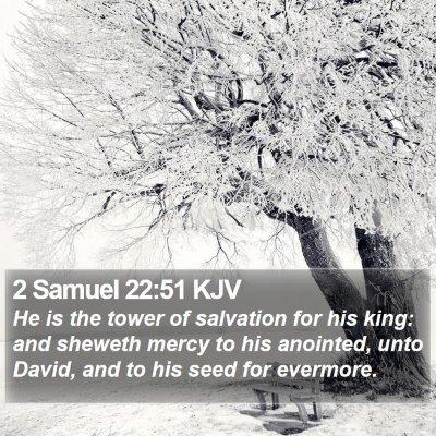 2 Samuel 22:51 KJV Bible Verse Image