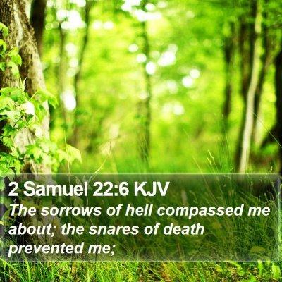 2 Samuel 22:6 KJV Bible Verse Image