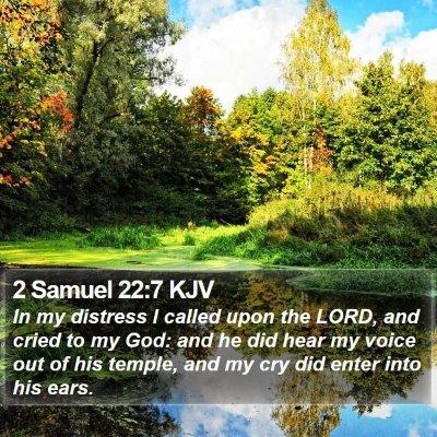 2 Samuel 22:7 KJV Bible Verse Image