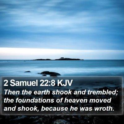 2 Samuel 22:8 KJV Bible Verse Image