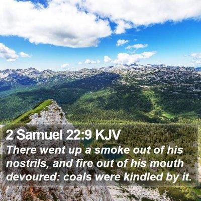 2 Samuel 22:9 KJV Bible Verse Image