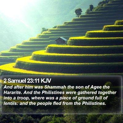 2 Samuel 23:11 KJV Bible Verse Image