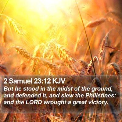 2 Samuel 23:12 KJV Bible Verse Image
