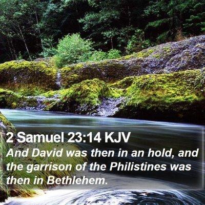 2 Samuel 23:14 KJV Bible Verse Image