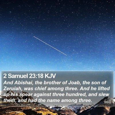 2 Samuel 23:18 KJV Bible Verse Image