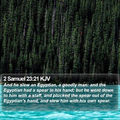 2 Samuel 23:21 KJV Bible Verse Image