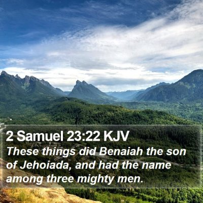 2 Samuel 23:22 KJV Bible Verse Image