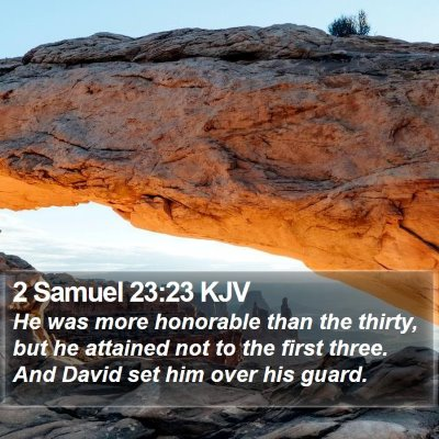 2 Samuel 23:23 KJV Bible Verse Image