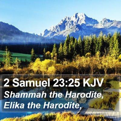 2 Samuel 23:25 KJV Bible Verse Image