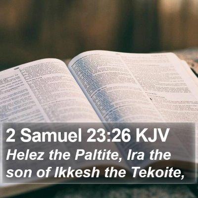2 Samuel 23:26 KJV Bible Verse Image
