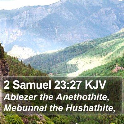 2 Samuel 23:27 KJV Bible Verse Image