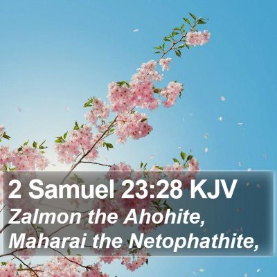 2 Samuel 23:28 KJV Bible Verse Image