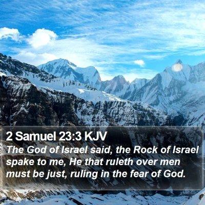 2 Samuel 23:3 KJV Bible Verse Image