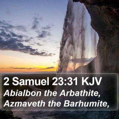 2 Samuel 23:31 KJV Bible Verse Image