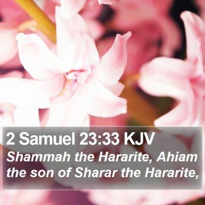 2 Samuel 23:33 KJV Bible Verse Image