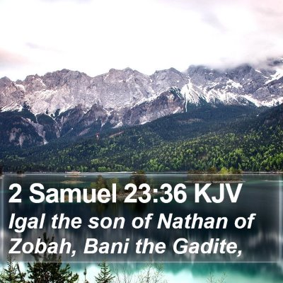 2 Samuel 23:36 KJV Bible Verse Image