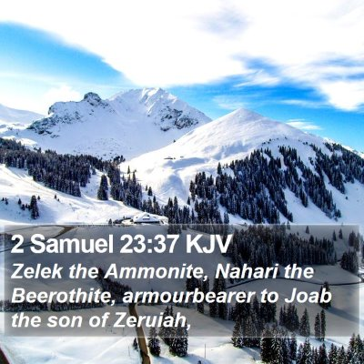 2 Samuel 23:37 KJV Bible Verse Image