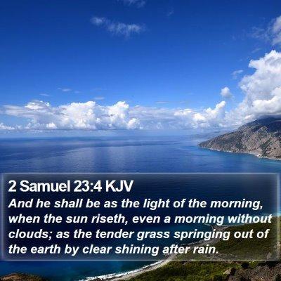 2 Samuel 23:4 KJV Bible Verse Image