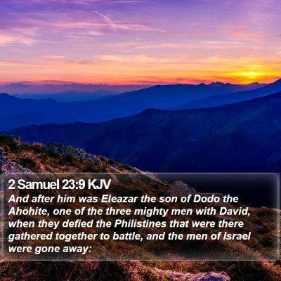 2 Samuel 23:9 KJV Bible Verse Image