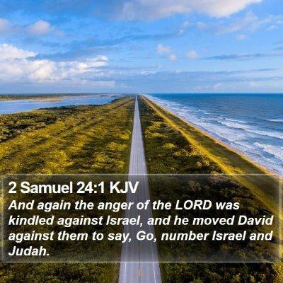 2 Samuel 24:1 KJV Bible Verse Image