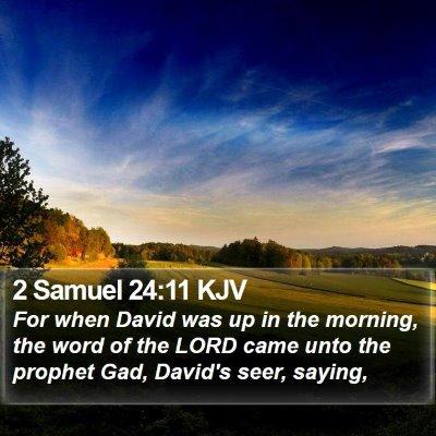 2 Samuel 24:11 KJV Bible Verse Image