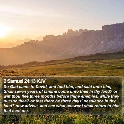 2 Samuel 24:13 KJV Bible Verse Image