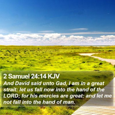 2 Samuel 24:14 KJV Bible Verse Image