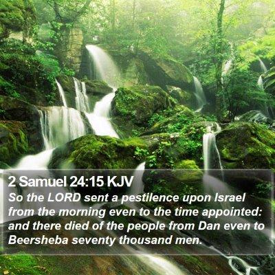 2 Samuel 24:15 KJV Bible Verse Image