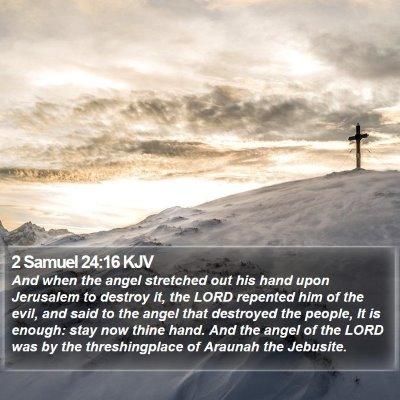 2 Samuel 24:16 KJV Bible Verse Image