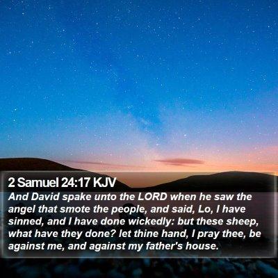 2 Samuel 24:17 KJV Bible Verse Image