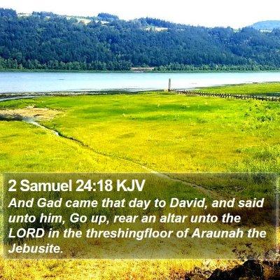 2 Samuel 24:18 KJV Bible Verse Image