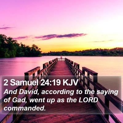 2 Samuel 24:19 KJV Bible Verse Image