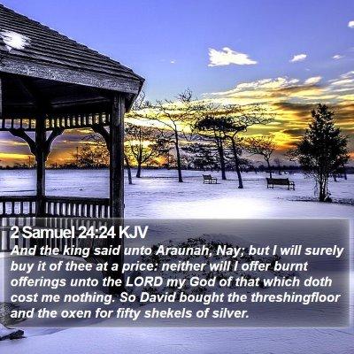 2 Samuel 24:24 KJV Bible Verse Image