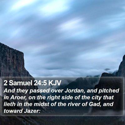 2 Samuel 24:5 KJV Bible Verse Image