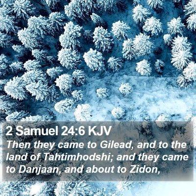 2 Samuel 24:6 KJV Bible Verse Image