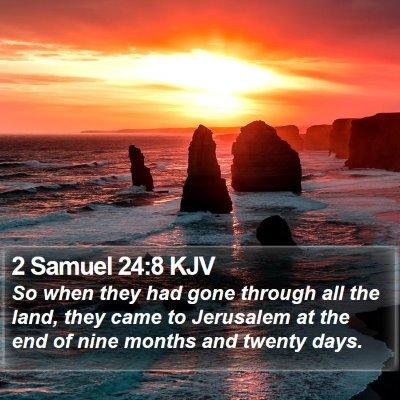 2 Samuel 24:8 KJV Bible Verse Image