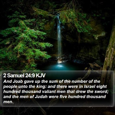 2 Samuel 24:9 KJV Bible Verse Image