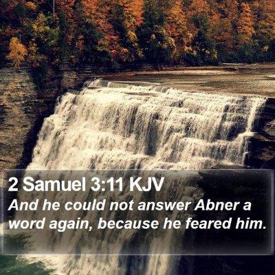 2 Samuel 3:11 KJV Bible Verse Image