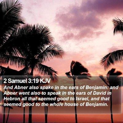 2 Samuel 3:19 KJV Bible Verse Image