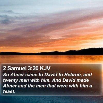 2 Samuel 3:20 KJV Bible Verse Image