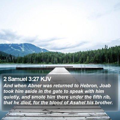 2 Samuel 3:27 KJV Bible Verse Image