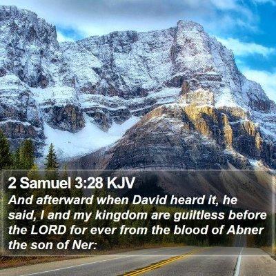 2 Samuel 3:28 KJV Bible Verse Image