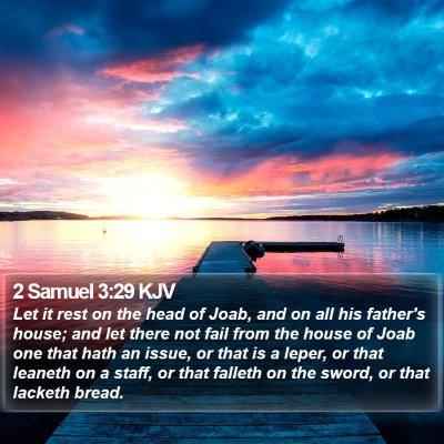2 Samuel 3:29 KJV Bible Verse Image