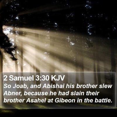 2 Samuel 3:30 KJV Bible Verse Image