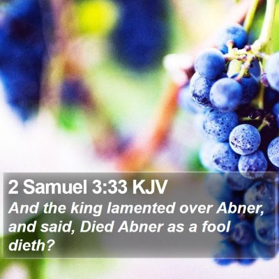 2 Samuel 3:33 KJV Bible Verse Image