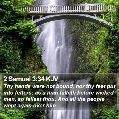2 Samuel 3:34 KJV Bible Verse Image