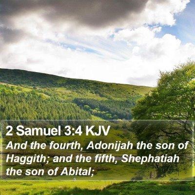 2 Samuel 3:4 KJV Bible Verse Image
