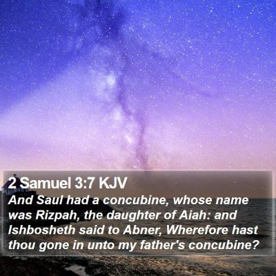 2 Samuel 3:7 KJV Bible Verse Image