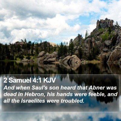 2 Samuel 4:1 KJV Bible Verse Image